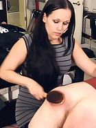 Mary Jane spanks assistant