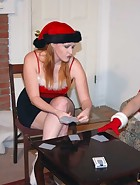 At their Christmas party, Clare and Virginia (played by Julie Simone) are playing games with Kay and Sierra. Spanking games of course. Cards lead to plenty of spankings in different positions and with hands and implements. This is the last ever new spanki