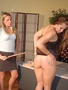 Madison spanked by her Boss