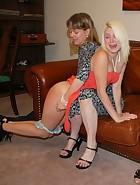 Clare spanks Kat