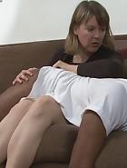 Clare spanks Ace