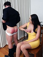 Alexis Spanks Boyfriend at Office