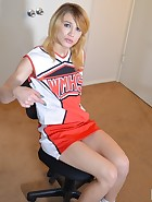 Cheerleader Spanks the Coach