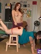 Kay spanks Nikki, pic #6