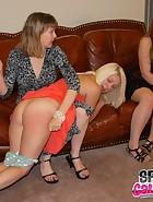 Clare spanks Kat, pic #10