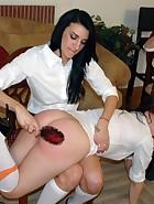 4 girls spanking, pic #11