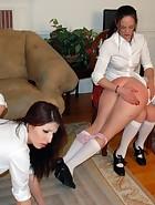 4 girls spanking, pic #7