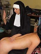 Sister Mary Kate Spanks and Paddles Veronica, pic #14