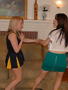 Karina spanks Kat, pic #2