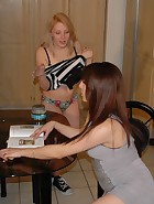 Karina Spanks Kat With Hand & Wooden Spoon, pic #1