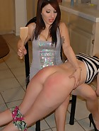 Karina Spanks Kat With Hand & Wooden Spoon, pic #12