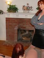 Mom Spanks & Belts Veronica for Masturbating, pic #3