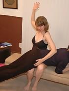 Clare spanks Kade, pic #3