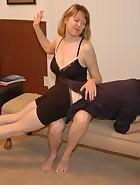 Clare spanks Kade, pic #8