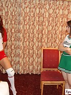 Cheerleader Spanks Volleyball Player, pic #1