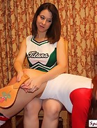 Cheerleader Spanks Volleyball Player, pic #13
