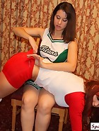 Cheerleader Spanks Volleyball Player, pic #4