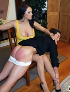 Alexis Spanks Boyfriend at Office, pic #11