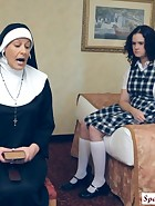 Sister Mary Chris punishes Jenni, pic #2