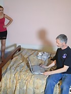 Landlord spanks her Tennant, pic #1