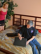 Landlord spanks her Tennant, pic #2