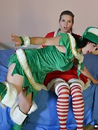 Mother/Daughter Christmas Spanking, pic #2