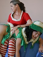 Mother/Daughter Christmas Spanking, pic #3