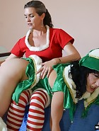 Mother/Daughter Christmas Spanking, pic #5