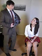 Sarah Gregory Spanks Her Teacher, pic #2