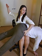 Sarah Gregory Spanks Her Teacher, pic #3