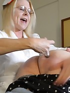 Nurse Spanks Daughter's Boyfriend, pic #9